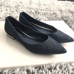 Marc Fisher denim pointed toe flats size 7.5 blue